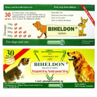 30 Tablets Biheldon Dog and Cat Wormer (DRONTAL alternative)